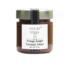 Orange Ginger Caramel Sauce - Lick My Spoon