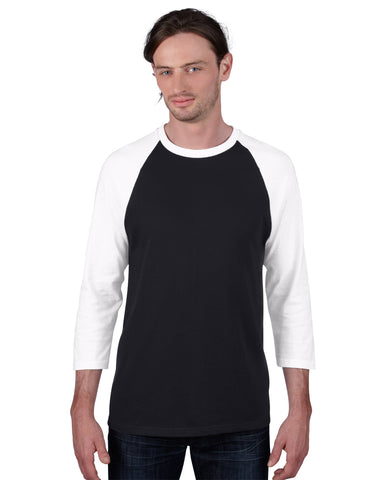 2184 Anvil Adult Heavyweight Raglan 3 Qtr Sleeve Tee
