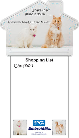 Mittens and Latte Magnetic Fridge Notepad