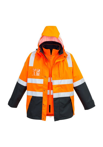 Mens Hi Vis 4 in 1 Waterproof Jacket - ZJ532