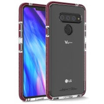 LG V40 CRUSADER LITE SERIES CASE CLEAR & PLUM