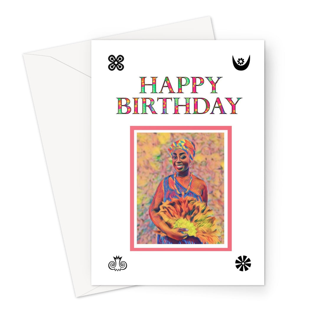 The Nana Nyarkoa Birthday Card-Greeting Card-Essence of Asabea