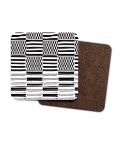 The Achimota Nsafoa 4 Pack Hardboard Coaster Set-Gifts & Lifestyle-Essence of Asabea