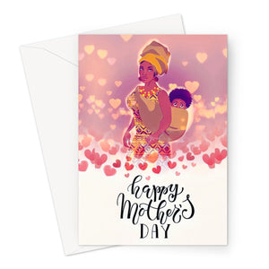 Mother's Day Hearts Greeting Card-Greeting Card-Essence of Asabea