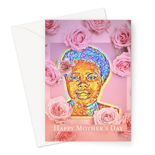 Black Venus Mother's Day Card Greeting Card-Greeting Card-Essence of Asabea