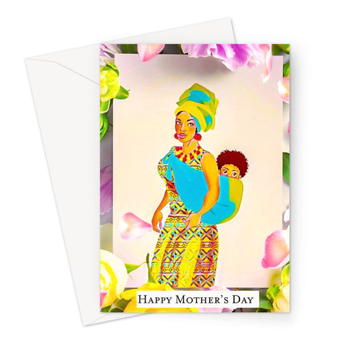 Mother and Child Mothers Day Greeting Card-Greeting Card-Essence of Asabea