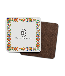 The Adinkra 4 Pack Hardboard Coaster Set-Gifts & Lifestyle-Essence of Asabea