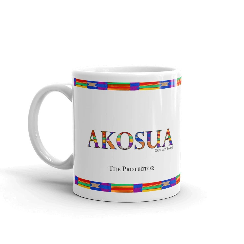 The Akosua Day Name Coffee Mug-Sunday Born Mug-Essence of Asabea
