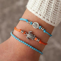 SAVE THE OCEAN BRACELET STACK SEA TURTLE
