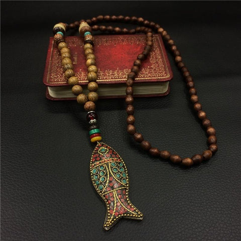 TIBETAN FISH NECKLACE