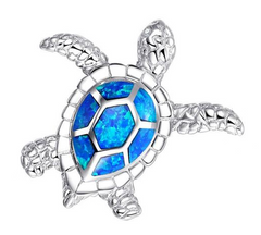 Save the Sea Turtle Jewelry Opal Necklace