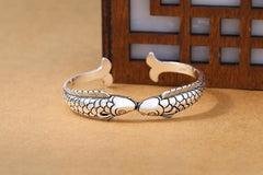 SAVE THE OCEAN BRACELET SILVER KISSING FISH