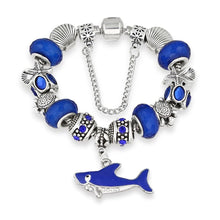 Load image into Gallery viewer, Save the Sharks Jewelry | Save Sharks Charm Bracelet-seaxox.com