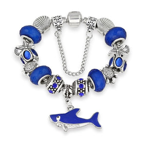 Save the Sharks Jewelry | Save Sharks Charm Bracelet-seaxox.com