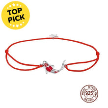Load image into Gallery viewer, Save Ocean Animals Jewelry | Sterling Lucky Koi Fish Bracelet-seaxox.com