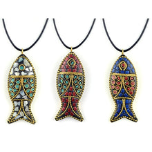 Load image into Gallery viewer, Ocean Charity Jewelry | Nepal Handmade Fish Necklace-seaxox.com