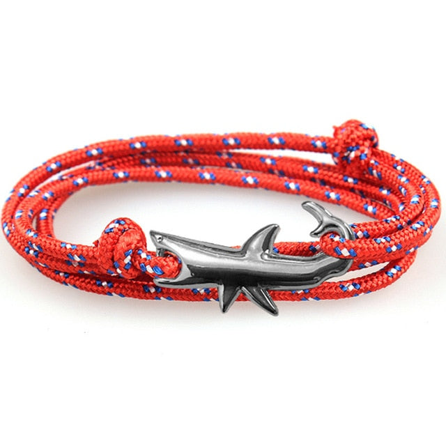 Save the Sharks Jewelry | Paracord Shark Bracelet-seaxox.com