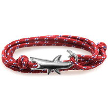 Load image into Gallery viewer, Save the Sharks Jewelry | Paracord Shark Bracelet-seaxox.com