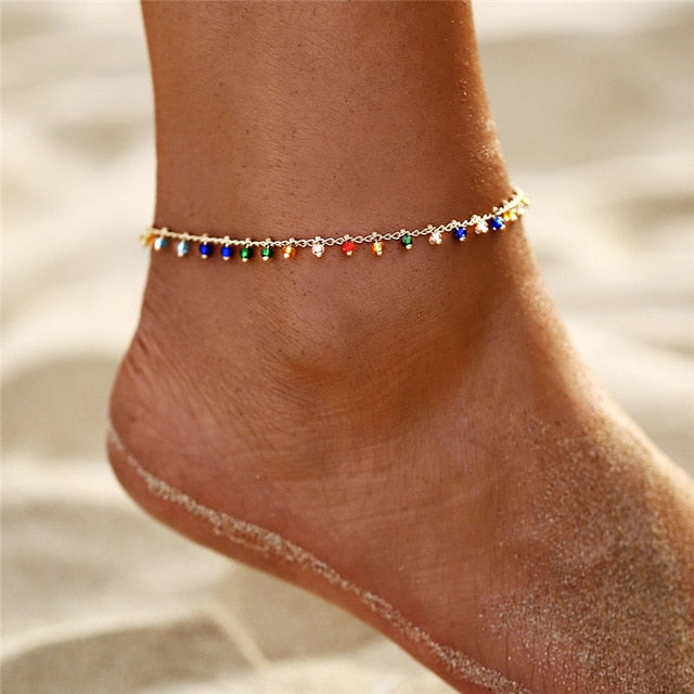 Save Ocean Animals Jewelry | Mermaid Tear Anklet-seaxox.com