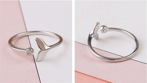 Save the Whales Jewelry | 925 Sterling Whale Tail Ring