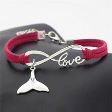 Load image into Gallery viewer, Save the Whales Jewelry | Whale Leather Bracelet 10 COLORS-seaxox.com
