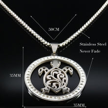 Load image into Gallery viewer, Save Sea Turtle Jewelry | Tribal Sea Turtle Necklace-seaxox.com