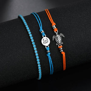 Save Sea Turtle Jewelry | Sea Turtle Anklet 3 PC Set-seaxox.com