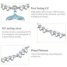 Load image into Gallery viewer, Save the Whales Jewelry | Sterling Blue Tear Whale Tail Bracelet-seaxox.com