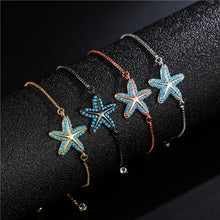 Load image into Gallery viewer, Save the Ocean Jewelry Chic Unique Charm Starfish Bracelets AAA CZ 20 Styles-seaxox.com
