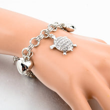 Load image into Gallery viewer, Ocean Charity Jewelry | Sea Turtle Bracelet Austrian Crystal-seaxox.com