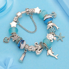 Load image into Gallery viewer, Save Sea Turtle Jewelry | Sea Turtle Charm Bracelet-seaxox.com