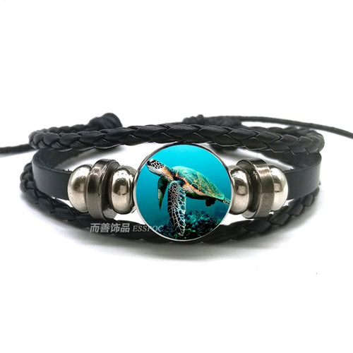 Save the Ocean Jewelry Sea Turtle Bracelet Octopus Dolphin 14 Styles-seaxox.com