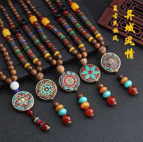 Save Sea Life Jewelry Nepal Buddhist Mala Bead Necklace-seaxox.com