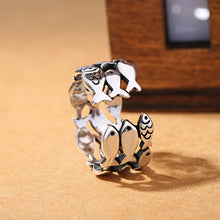 Load image into Gallery viewer, Sterling Silver Fish School Ring-seaxox.com