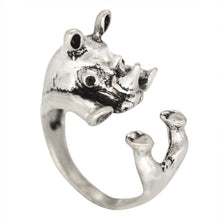 Load image into Gallery viewer, Antiqued Rabbit Owl Fish Animal Dog Cat Deer Adjustable Cute Knuckle Rings 54 STYLES