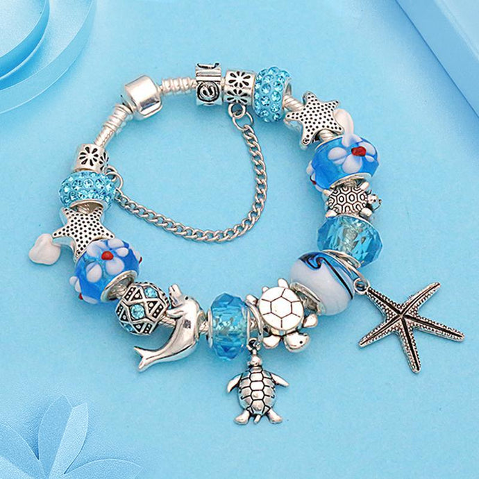 Save Sea Turtle Jewelry | Sea Turtle Charm Bracelet-seaxox.com