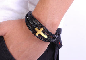 Ocean Conservation Jewelry | Christian Multi Layer Leather Bracelet-seaxox.com