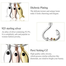 Load image into Gallery viewer, Save Sea Animals Jewelry | Sterling Fish Hook Dangle Earrings-seaxox.com