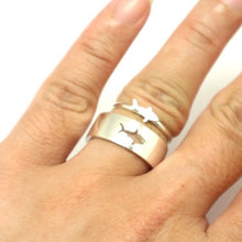 Load image into Gallery viewer, Save the Sharks Jewelry | Great White Shark Ring-seaxox.com