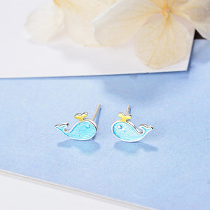 Save the Whales Jewelry | Blue Whale Earrings-seaxox.com