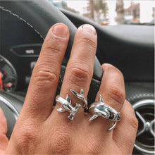 Load image into Gallery viewer, Save the Sharks Jewelry | Hammerhead Shark Ring -2 RINGS