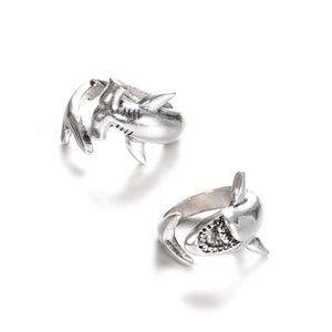 Save the Sharks Jewelry | Hammerhead Shark Ring -2 RINGS