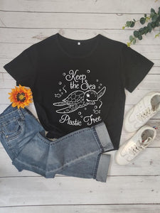 Save the Ocean Tshirts | Plastic Free Sea Tshirt-seaxox.com