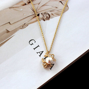 Save Ocean Animal Jewelry Crab Necklace Short Pendant Chain 2 COLORS-seaxox.com
