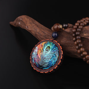 Ocean Charity Jewelry | Nepal Boho Sandalwood Necklace-seaxox.com