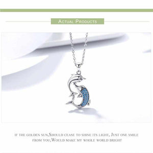 Save Ocean Animals Jewelry Necklace | Sterling Dolphin Necklace-seaxox.com