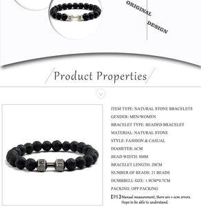Save Ocean Animals Jewelry | Dumbbells Bracelet Lava Stone-seaxox.com