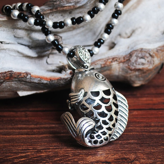 Ocean Charity Jewelry | Tibetan Vintage Lucky Fish Necklace