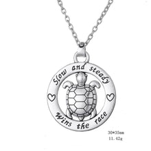 Load image into Gallery viewer, Cute Save Sea Life Jewelry Save the Sea Turtles Necklace Statement-seaxox.com