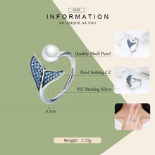 Load image into Gallery viewer, Save the Whales Jewelry | 925 Sterling Whale Tail Ring-seaxox.com